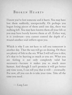 Broken Hearts - Lang Leav Love Quotes Movies, Great Quotes, Quotes To Live By, Me Quotes, Inspirational Quotes, Hurt Quotes, Qoutes, Get Over Him Quotes, Cheer Up Quotes