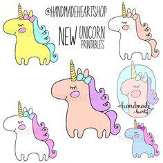 Image of NEW Unicorn Printable