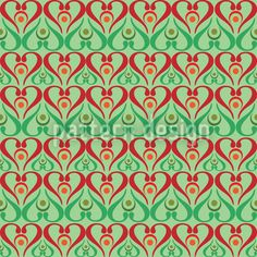 Hearts On Green Pattern Design Vector Pattern, Pattern Design, Heart Ornament, Green Pattern, Vector File, Hearts, Patterns, Color, Block Prints