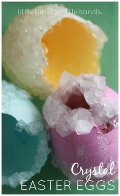 Crystal Eggs Easter Science Borax Crystals Activity. Grow crystals. It's fun and easy to set up and have great results!