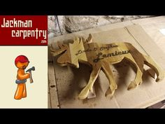 Moose Pallet Silhouette (Camper Sign) - Jackman Carpentry - YouTube