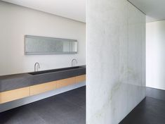 :: BATHROOMS :: Interior of the Knokke Apartment by John Pawson. Photography by Jens Weber. - Covet the work & details of mastermind John Pawson. #bathrooms