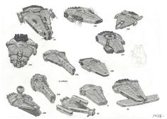 Solo: A Star Wars Story concept art showcases alternate Millennium Falcon designs Nave Star Wars, Star Wars Rpg, Star Wars Ships, Star Trek, Millennium Falcon, Cyberpunk, Star Wars Spaceships, Starship Concept, Movies