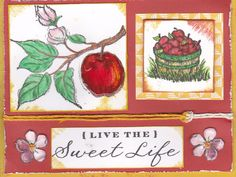 CTMH Card stamps: Sweet Life & Country-Born. By Kristine Cozine
