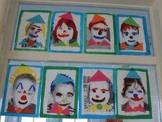 clown d'après photocop portrait élèves