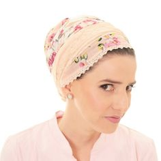 Pink floral scarf tichel;) #modest #head cover #tichel #hair accessories #head scarf #modest fashion