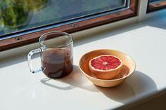 Borosilicate Glass Coffee mug by HAY and Rainbow bowl