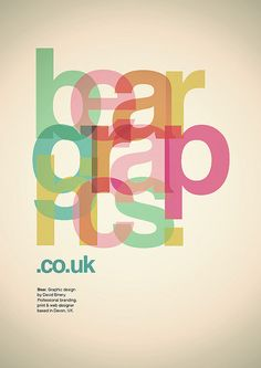 Bear Graphics Type Poster by DavidEmery, via Flickr