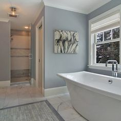 "Grayish Blue Paint bathroom classic #blue bathroom paint color is ""fantasy blue 716"