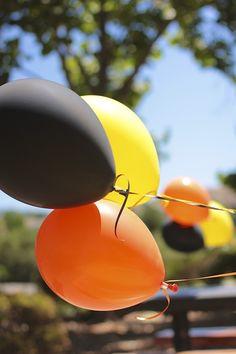 Construction site theme orange black and yellow