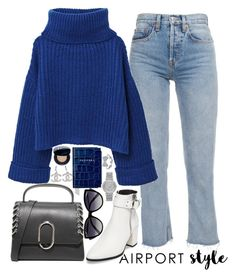 """""""airport style❤"""" by polinachaban ❤ liked on Polyvore featuring Steve Madden, MANGO, 3.1 Phillip Lim, La Perla, Aspinal of London, Michael Kors, Christian Dior and airportstyle"""