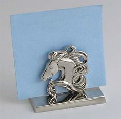 A western or cowboy theme wedding or banquet needs these horse head design silver nickel plated place card holders to add to the celebration. Sets of 3 only $28.95 for 6 sets or more.