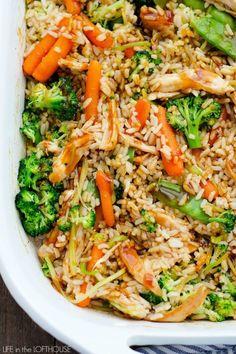 Teriyaki Chicken Casserole #chickenrecipes #chickencasserole #healthyfood #stirfryvegetables
