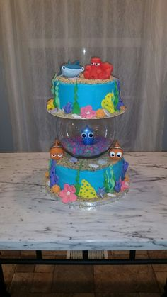 How to make a Finding Dory Cake Finding Nemo Cake Full tutorial