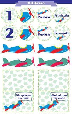Festa avião para imprimir (grátis!) Party Printables, Free Printables, Airplane Baby Shower, 3rd Birthday, Birthday Ideas, Diy Crafts, Scrapbook, Prints, Cars