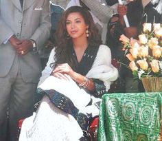 Beyonce in traditional Ethiopian dress