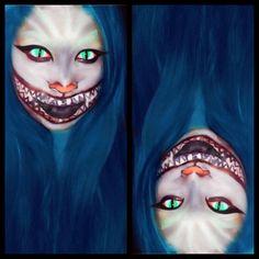 #makeup #halloween #trick #look #creative #fun #practice #scary #fun #Cheshire #Cat