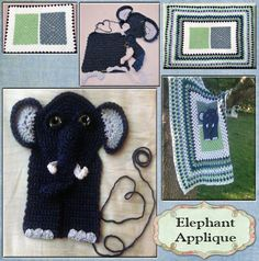 Elephant Applique: pattern available @ from Grammy's Heart, with Love