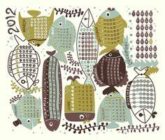 2012 Fishies Friends fabric by melisza on Spoonflower - custom fabric