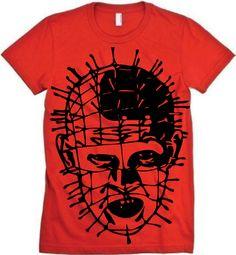Hellraiser Pinhead Portrait MENS Horror Tshirt. $19.00, via Etsy.