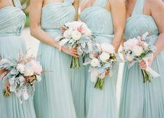 Duck Egg Blue Bridesmaids dresses