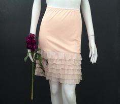 Blush Ruffle Slip Dress Extender  for those vintage dresses that are just a bit too short.