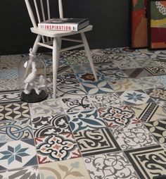 Real Encaustic Tiles, Random Patch Work