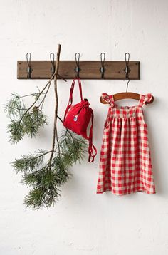 Checkered Linen Baby Dress Red and Natural Plaid Dress Linen Holiday Gift Guide, Holiday Gifts, Etsy Handmade, Handmade Gifts, Holidays With Toddlers, Christmas Pageant, Baby Prints, Baby Dress, Pinafore Dress