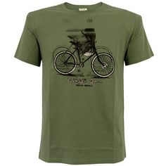 Paul Smith Jeans  Green Winged Bicycle Print T-Shirt