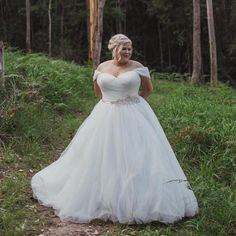 Get custom #plussizeweddingdresses made with any design preferences you need.  We can also make really close #replicas of #hautecouture #weddingdresses for less too.  So if your dream dress is a bit pricey for your budget we can help.  Our #inspired version will have the same look for less.  Email us your favorite #weddingdress images for pricing.