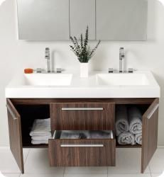 @Overstock - A warm walnut finish highlights this Fresca Opulento modern bathroom vanity. This vanity includes a medicine cabinet and chrome hardware.http://www.overstock.com/Home-Garden/Fresca-Opulento-Walnut-Double-sink-Bathroom-Vanity-with-Medicine-Cabinet/5522850/product.html?CID=214117 $1,499.00