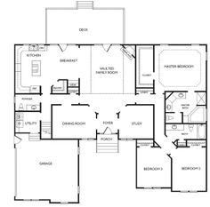 My next home in Virginia Beach??? Unique Open Floor Plans   Cypress Floorplan   Virginia Beach   LR Hill Custom Builders