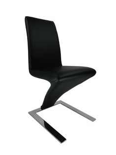 Simple Z Shape Designed Dining and Living Room Chairs--Black