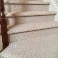 ... Choosing Stair Runner: Nice Stair Design With Cream Patterned Carpet  Stair Runner Combine With Mahogany ...