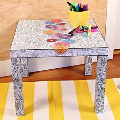 Ikea Hack Adult Coloring Book Table