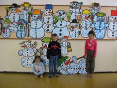 18 Ideas For Collaborative Art Projects For Kids Winter Collaborative Art Projects For Kids, Group Art Projects, School Art Projects, Class Projects, Christmas Art Projects, Winter Art Projects, Winter Crafts For Kids, Kindergarten Art, Preschool Art