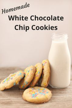 Delicious White Chocolate Chip Cookies.... | The Diary of a Frugal Family Delicious Cookie Recipes, Donut Recipes, Yummy Cookies, Baking Recipes, Dessert Recipes, Yummy Food, Fun Food, White Chocolate Chip Cookies, Homemade Pie