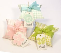 Easter Treat Boxes by Lisa Lisa - Cards and Paper Crafts at Splitcoaststampers