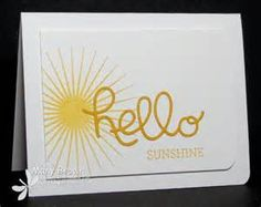 January 2015 StamperCamper's Corner: Hello Sunshine Kinda Eclectic, Crazy About You, Hello You Framelits, Crushed Curry Minis, Crazy About You, Die Cut Cards, Hello Sunshine, Get Well Cards, Homemade Cards, Stampin Up Cards, Your Cards, Making Ideas