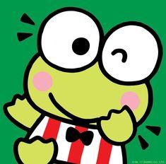 Happy birthday to you, happy birthday to you, happy birthday dear Keroppi, happy birthday to you! Hello Kitty Backgrounds, Hello Kitty Wallpaper, Hello Kitty Characters, Sanrio Characters, Cute Cartoon Drawings, Cartoon Gifs, Keroppi Wallpaper, Pochacco, Character Creator