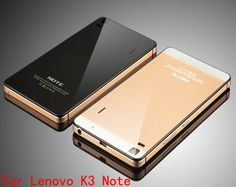 Mewah kualitas atas K3 catatan aluminium bingkai logam, Kaca Tempered penutup baterai kasus untuk Lenovo Lemon K3 catatan A7000