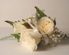 Classic Cream Rose Corsage