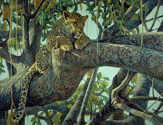 Artwork: Leopard in a Sausage Tree by Robert Bateman