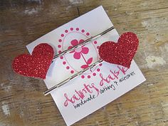 Handmade hair pins for Valentines's from Dainty Daisies