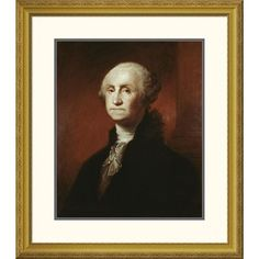 """Global Gallery 'George Washington' by Gilbert Stuart Framed Painting Print Size: 40"""" H x 34.68"""" W x 1.5"""" D"""