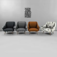 Leo 4 Sims: Odense Armchair • Sims 4 Downloads