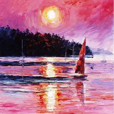 Another sailboat at sunset.  Love the colors.