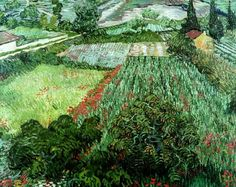 Vincent van gogh, field with poppies