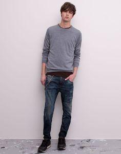 Pull&Bear - man - jeans - slim fit jeans - blue - 09685530-V2015