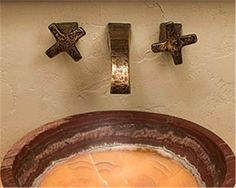 WALL MOUNTED FAUCET BATHROOM COPPER - Google Search